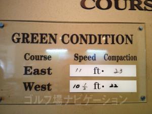 グリーンのセッティング