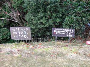 箕面ゴルフ倶楽部_インコース_11番池越えのショートホール