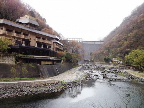 湯原温泉の有名な混浴露天風呂