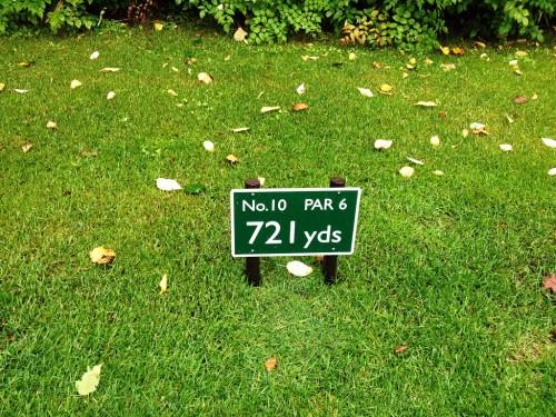 ニセコビレッジゴルフコース10番パー6