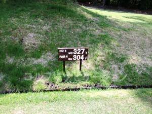 大山ゴルフクラブ 1番ミドルホール