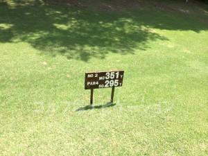 大山ゴルフクラブ2番レディスティ
