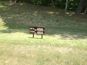 大山ゴルフクラブ3番ロングホール
