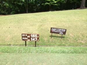 大山ゴルフクラブ9番ショートホール