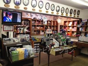 ゴルフの小物がたくさん売られています。