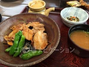 キジ丼。初めて食べたけど、癖もなく美味しかったです。