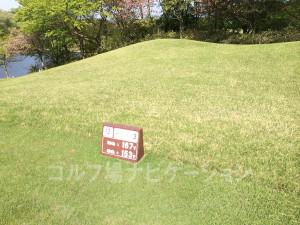 タラオカントリークラブ西コース12番名物ショートホール