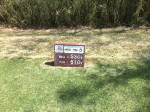 タラオカントリークラブ西コース8番ロングホール