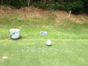 富士OGMゴルフクラブ小野コース 中コース3番ショートホール フロントティ153ヤード