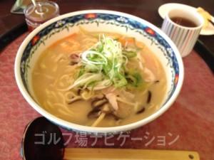ちゃんぽん麺。オリジナル自家製の食べるラー油を入れて食べると美味しい。