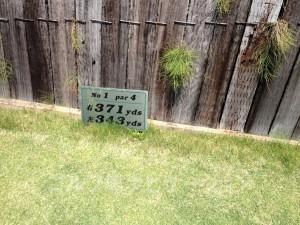 サングレートゴルフ倶楽部 1番ミドルホール