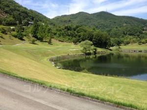 右は大きな池