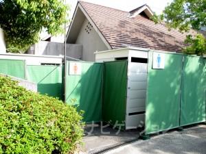 クラブハウス近くの貴重なトイレ