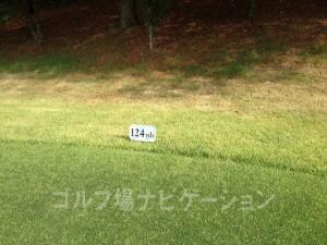 富士OGMゴルフクラブ小野コース 西コース2番ショートホール フロントティ124ヤード