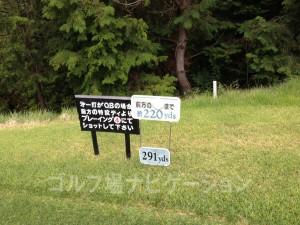 富士OGMゴルフクラブ小野コース 西コース3番ミドルホール フロントティ291ヤード