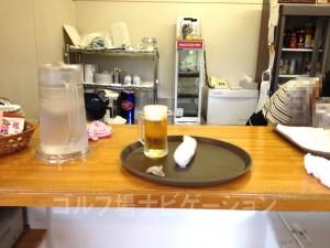 生ビールが無料は嬉しいサービス