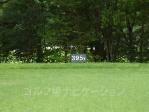 ABCゴルフ倶楽部 INコース11番ミドルホール、レギュラティの距離表示