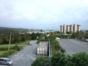 2階レストランからホテル方向の眺め