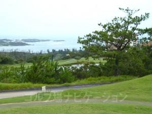 グリーン付近からの東シナ海の眺め
