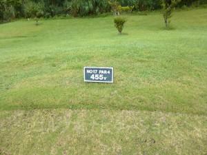 ジ・アッタテラスゴルフリゾート INコース17番ミドルホール、バックティからの距離は455ヤード