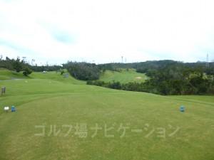 ジ・アッタテラスゴルフリゾート INコース17番ミドルホール、バックティからの眺め