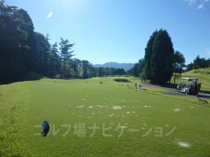 富士スタジアムゴルフ倶楽部 北コース INコース12番ショートホール、バックティからの眺め