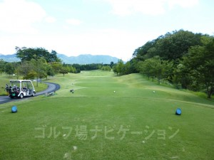 富士スタジアムゴルフ倶楽部 北コース OUTコース9番ミドルホール、バックティからの眺め