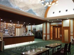 富士スタジアム北コースのフロント。フロント前が少々狭いかな。