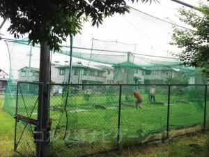 狭い鳥籠の打球練習場です。