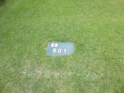 土佐カントリークラブ 桂浜コース2番ロングホール、バックティからの距離は501ヤード