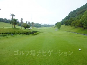 Kochi黒潮カントリークラブ 太平洋コース8番ホール、レギュラーティからの眺め