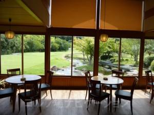 茶店内からの眺め。