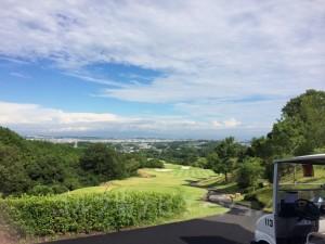 マスター室前からの景観。大阪平野がよく見えます。
