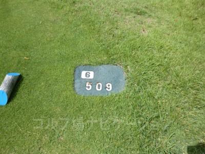 土佐カントリークラブ 室戸コース6番ロングホール、バックティからの距離は509ヤード