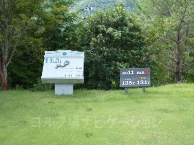 レオグラードゴルフクラブ INコース11番ショートホール、レギュラーティ