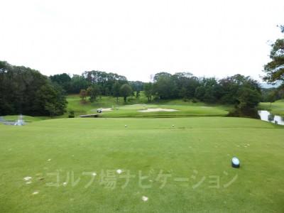 瀬田ゴルフコース北コース11番ホール、レギュラーティからの眺め