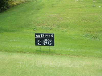 瀬田ゴルフコース北コース12番ロングホール レギュラーティ