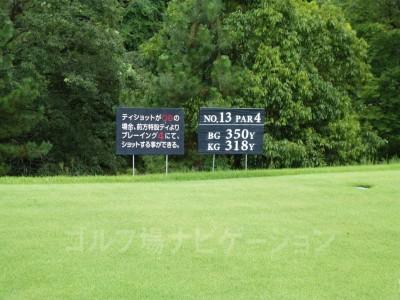 瀬田ゴルフコース北コース13番ミドルホール レギュラーティ