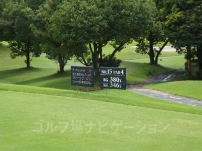 瀬田ゴルフコース北コース15番ミドルホール レギュラーティ