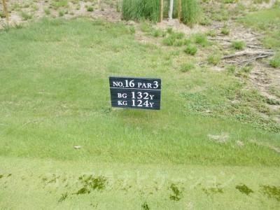瀬田ゴルフコース北コース16番ショートホール レギュラーティ