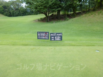 瀬田ゴルフコース北コース17番ミドルホール レギュラーティ
