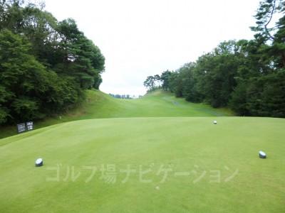 瀬田ゴルフコース北コース18番最終ホール レギュラーティからの眺め