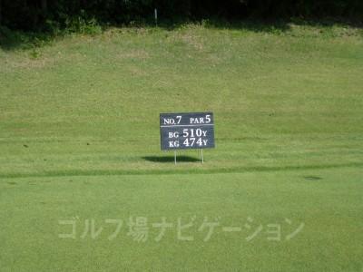 瀬田ゴルフコース北コース7番ロングホール、レギュラーティ