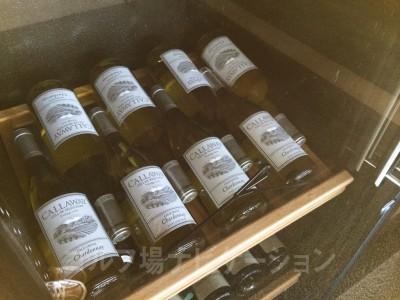 カリフォルニア・シャルドネの白ワイン。キャロウェイが作ってます。