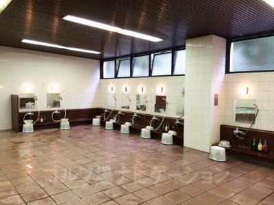 体を洗う場所。