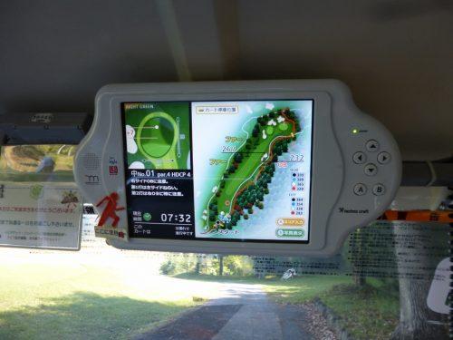 GPSナビ付きカート