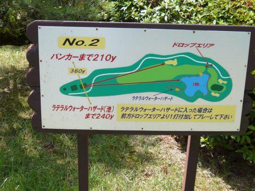 北六甲CC西コース2番コースガイド