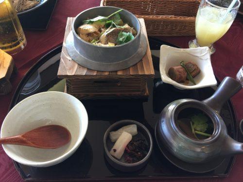 真鯛の釜飯膳と味覚土瓶蒸し
