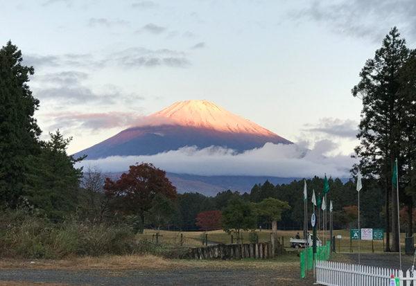 2018三井住友VISA太平洋マスターズ プロアマ 富士山