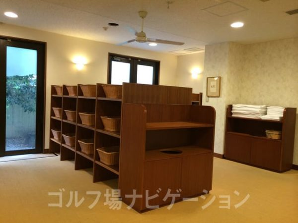 京都 かさぎゴルフ倶楽部 女性バスルーム 脱衣所